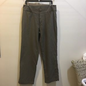 REI women's olive button fly flannel pants size 16